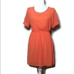 Orange diamond dress NWOT N1